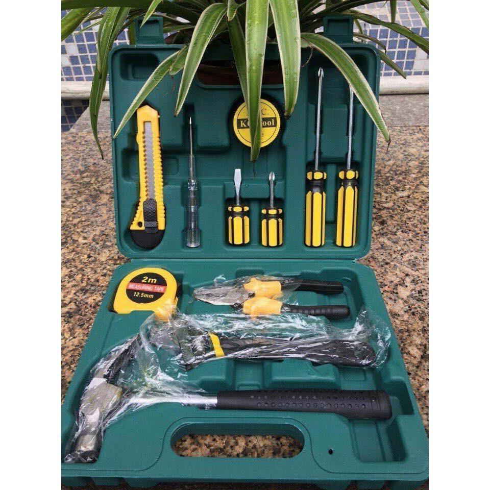 Bộ dụng cụ sửa chữa đa năng 11 món (Búa, kìm, cờ lê, dao, thước, tua vít, bút thử điện)