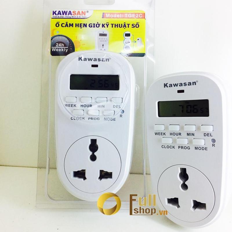 Công tắc thời gian điện tử dạng ổ cắm hẹn giờ đa năng chuẩn phút Kawa TGE2C