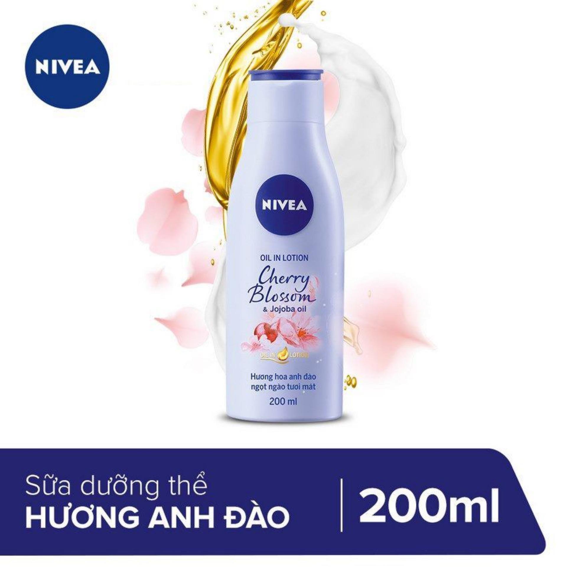 Sữa Dưỡng Thể Hương Hoa Anh Đào Nivea 200ml _  88428 nhập khẩu