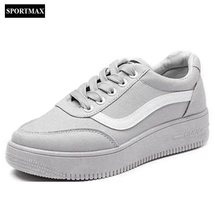 Giá Bán Giay Sneaker Thể Thao Nữ Sportmax Spwg8001G Xam Sportmax