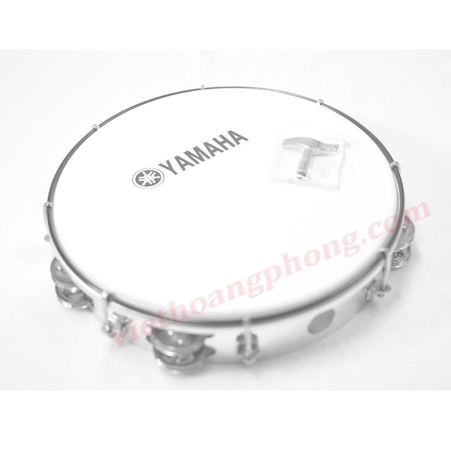 Trống Lắc Tay - Trống Gõ Bo - Tambourine Yamaha MT6-102A (Trắng đục) - HappyLive Shop Đang Có Ưu Đãi