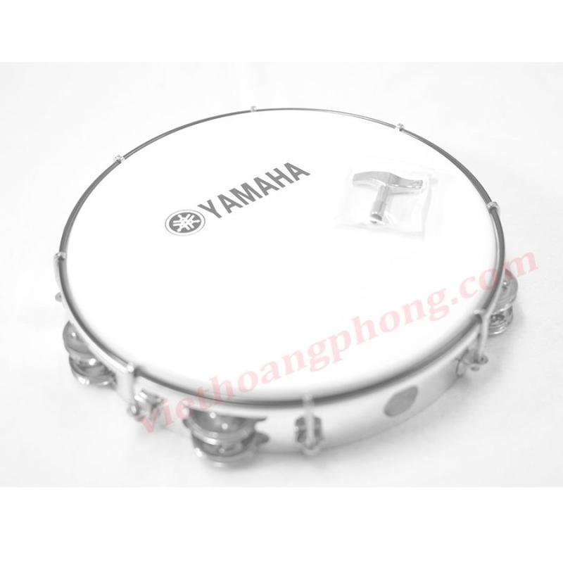 Trống lắc tay - trống gõ bo - Tambourine Yamaha MT6-102A (Trắng đục) - Việt Hoàng Phong