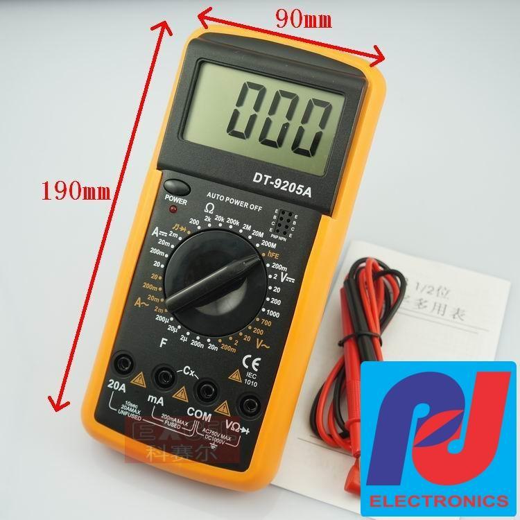 Đồng hồ kỹ thuật số đa năng DT-9205A