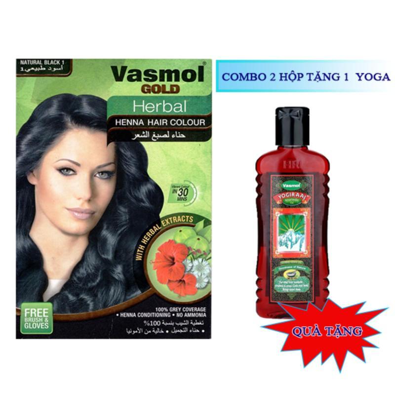 Bộ 2 hộp nhuộm tóc bạc Vasmol (Đen) cao cấp