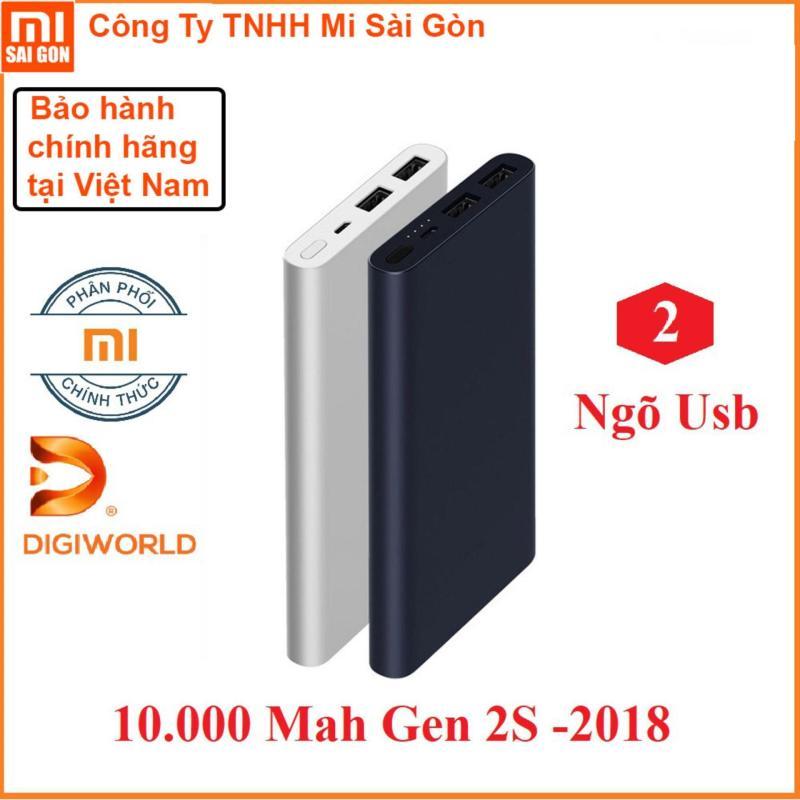 Giá [DiGiworld phân phối ]Sạc Dự Phòng Màu Xiaomi 10000 mAh Gen 2S 2018 - Chính hãng