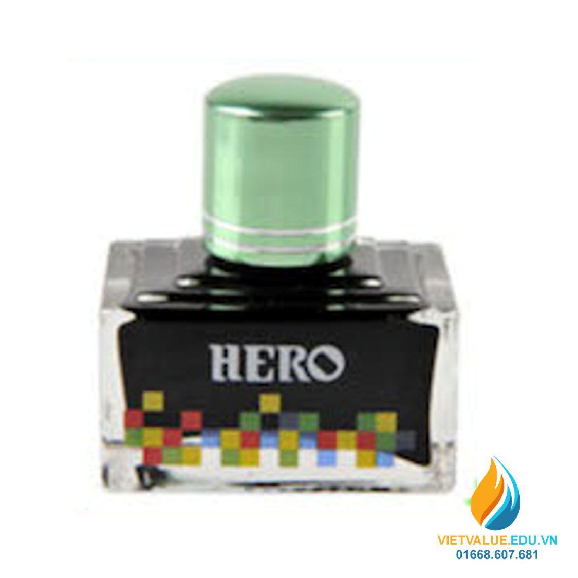 Mua Mực Hero thường cho bút máy, 40ml, màu xanh lá non mã 7108