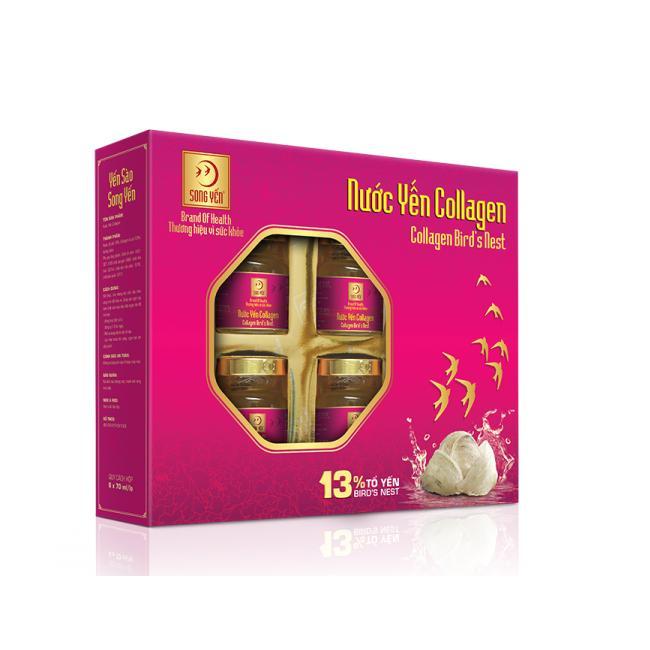 Hộp 6 Hũ Nước Yến Collagen Song Yến 70Ml Hls Chiết Khấu Hồ Chí Minh