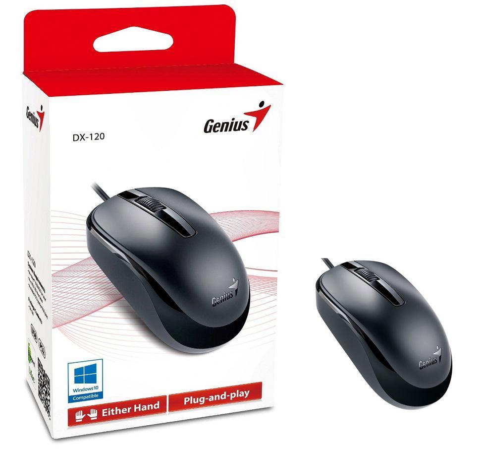 Chuột quang có dây Genius DX 120 ( màu đen)