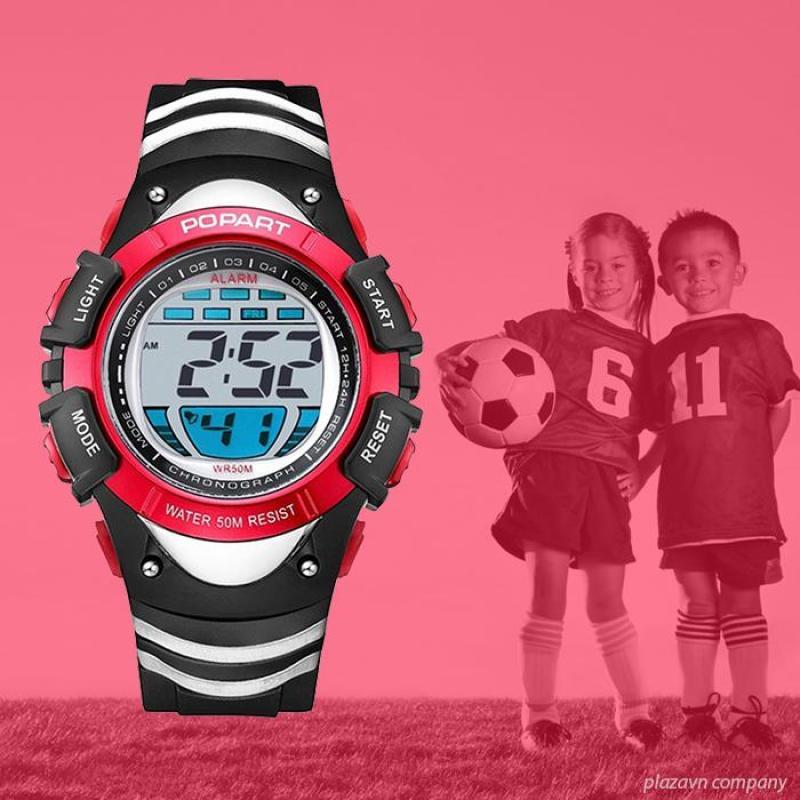 Nơi bán Đồng hồ điện tử trẻ em POPART POP-385T đầy đủ chức năng, chống shock chống nước tốt + Tặng thêm pin