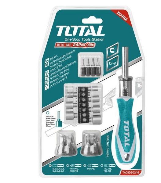 Bộ vít 24 chi tiết Total TACSD30246