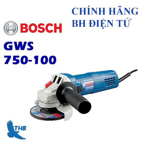Máy mài góc Bosch GWS 750-100 + Tặng đá mài, cắt 100
