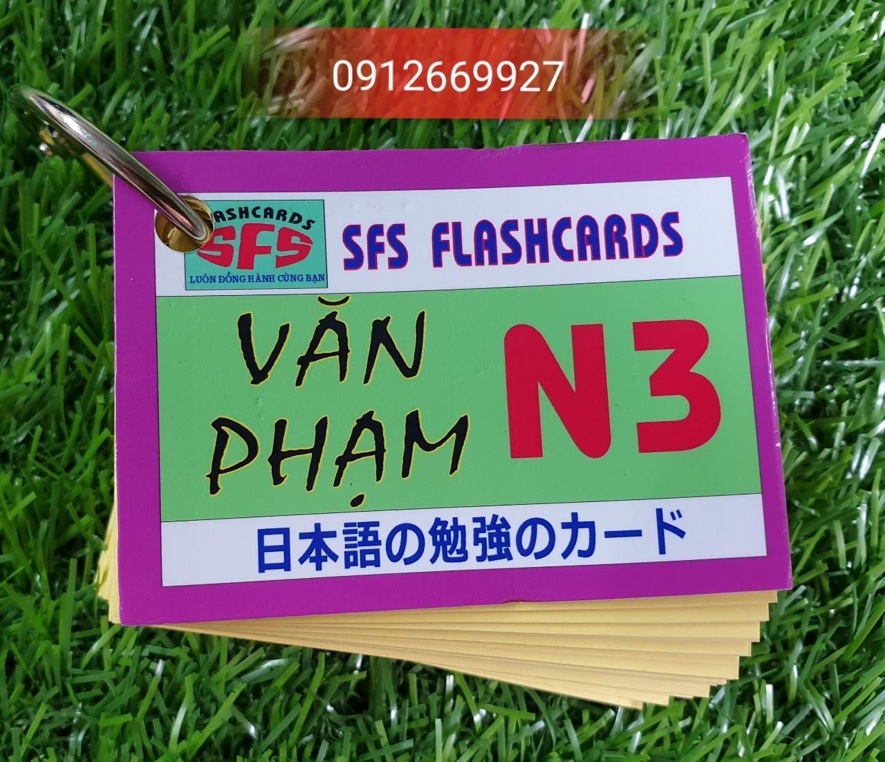 Mua Thẻ học tiếng Nhật N3 - thẻ văn phạm