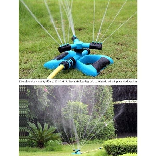 Béc xả nước tưới cây xoay 360