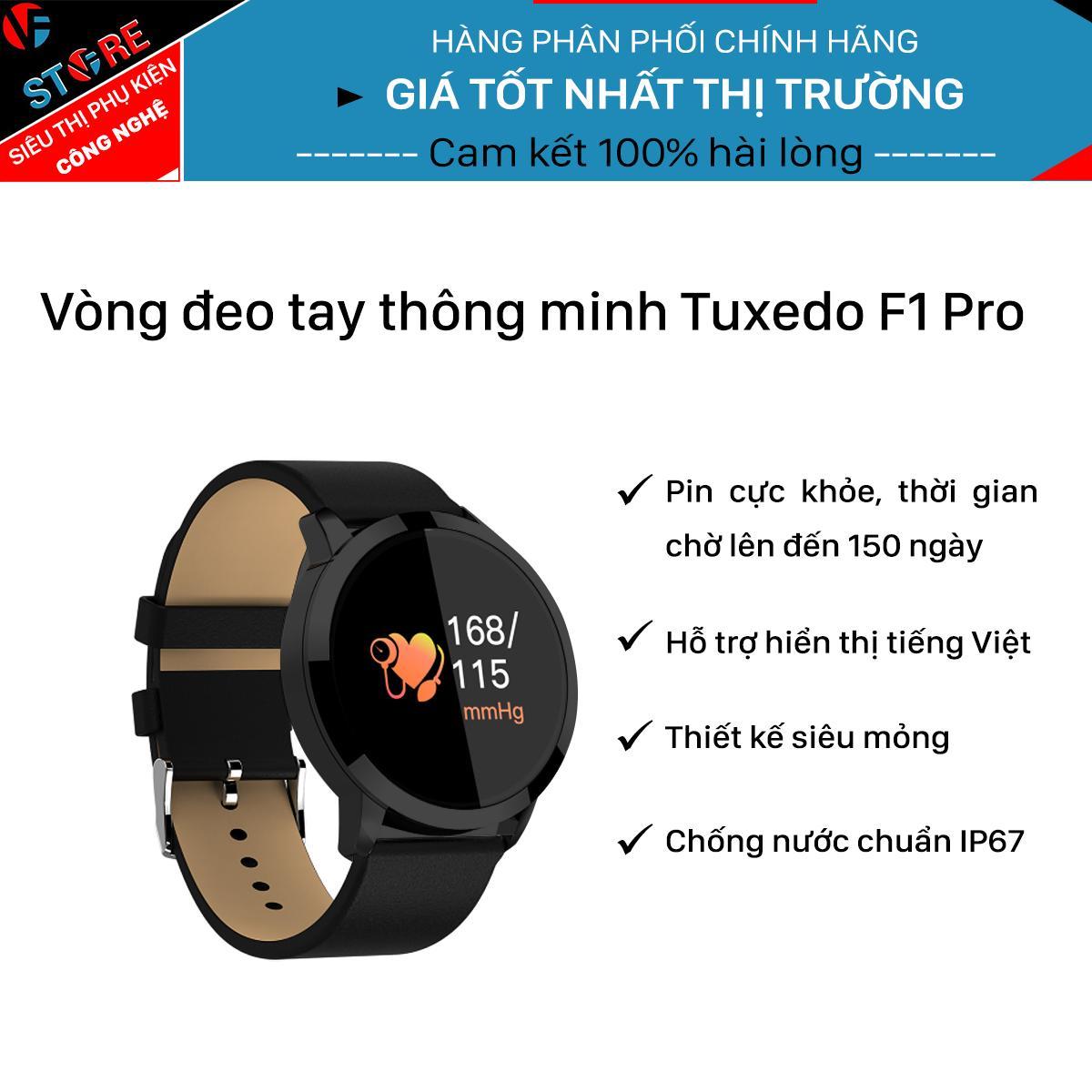 Hình ảnh Vòng đeo tay thông minh Tuxedo F1 Pro pin cực khỏe, thời gian chờ 150 ngày