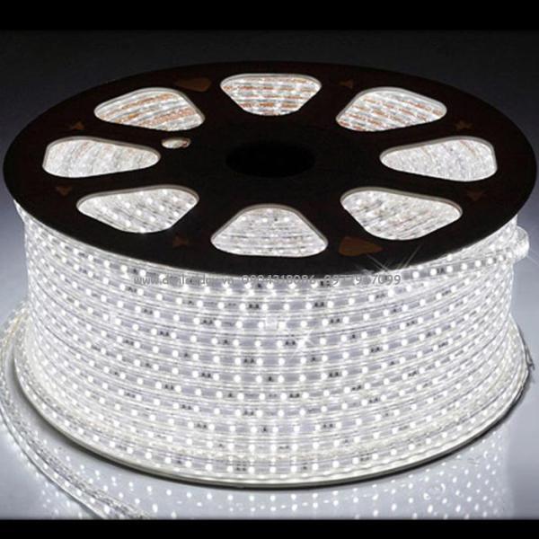 Cuộn đèn dây LED 5050 220V dài 100m trang trí (ánh sáng trắng)  đèn LED , cuộn led , dây đèn led , dây led , đèn led 5050 , chip đèn led , đèn led siêu sáng , dây led , dãy đèn led