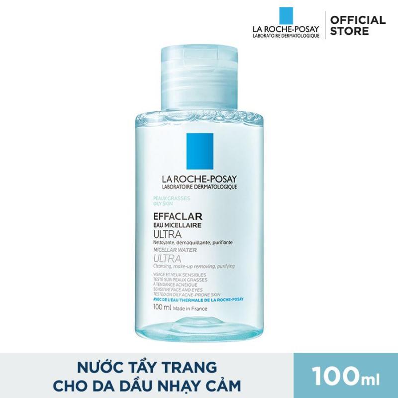 Nước tẩy trang làm sạch sâu và kiểm soát bã nhờn cho da dầu và da mụn La Roche Posay Effaclar Micellar Water 100ml nhập khẩu