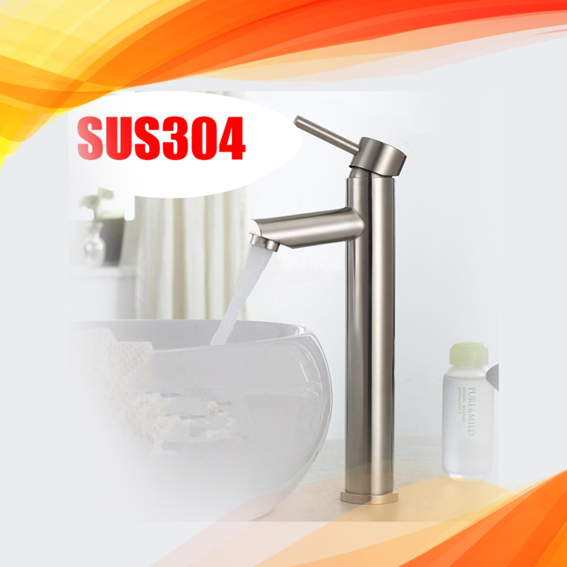 Bộ vòi chậu rửa mặt nóng lạnh JIKAS JK-5015