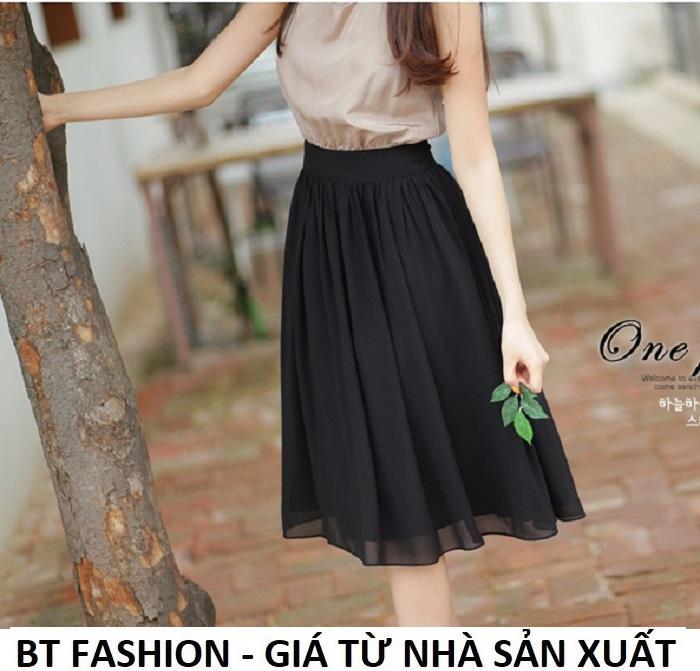 Chân Váy Xòe Voan Duyên Dáng Thời Trang Hàn Quốc - BT Fashion (VA01 - Vải Voan) Giá Rất Tiết Kiệm