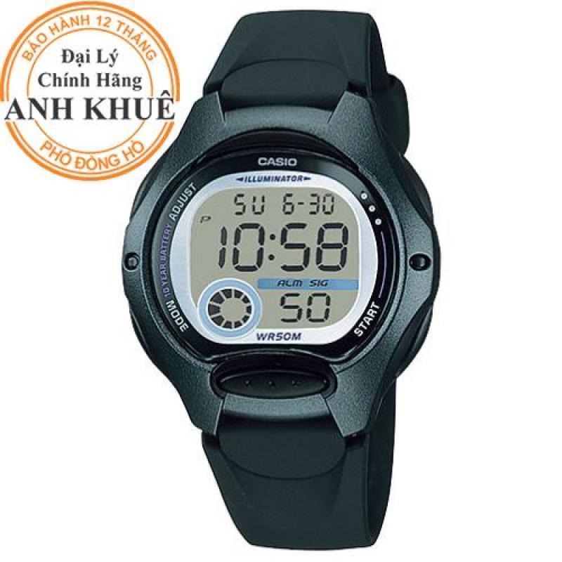 Đồng hồ nữ dây nhựa Casio Anh Khuê LW-200-1BVDF