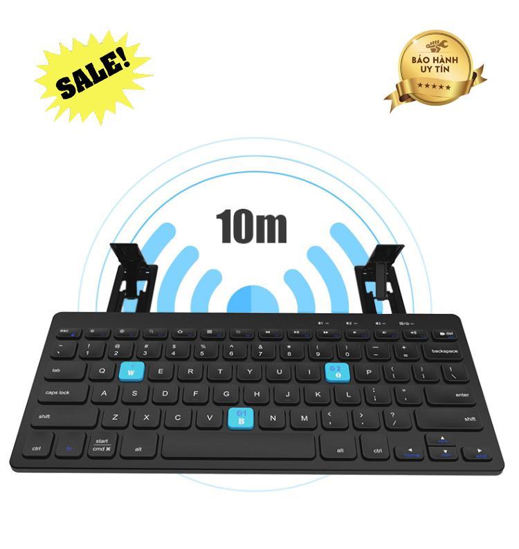 Giá Bàn phím máy tính cho điện thoại, Bàn phím bluetooth BOW HB191A cao cấp, hỗ trợ kết nối 2 thiết bị trong 1, linh hoạt, sử dụng dễ dàng, Bảo hành uy tín bởi Good 365.,