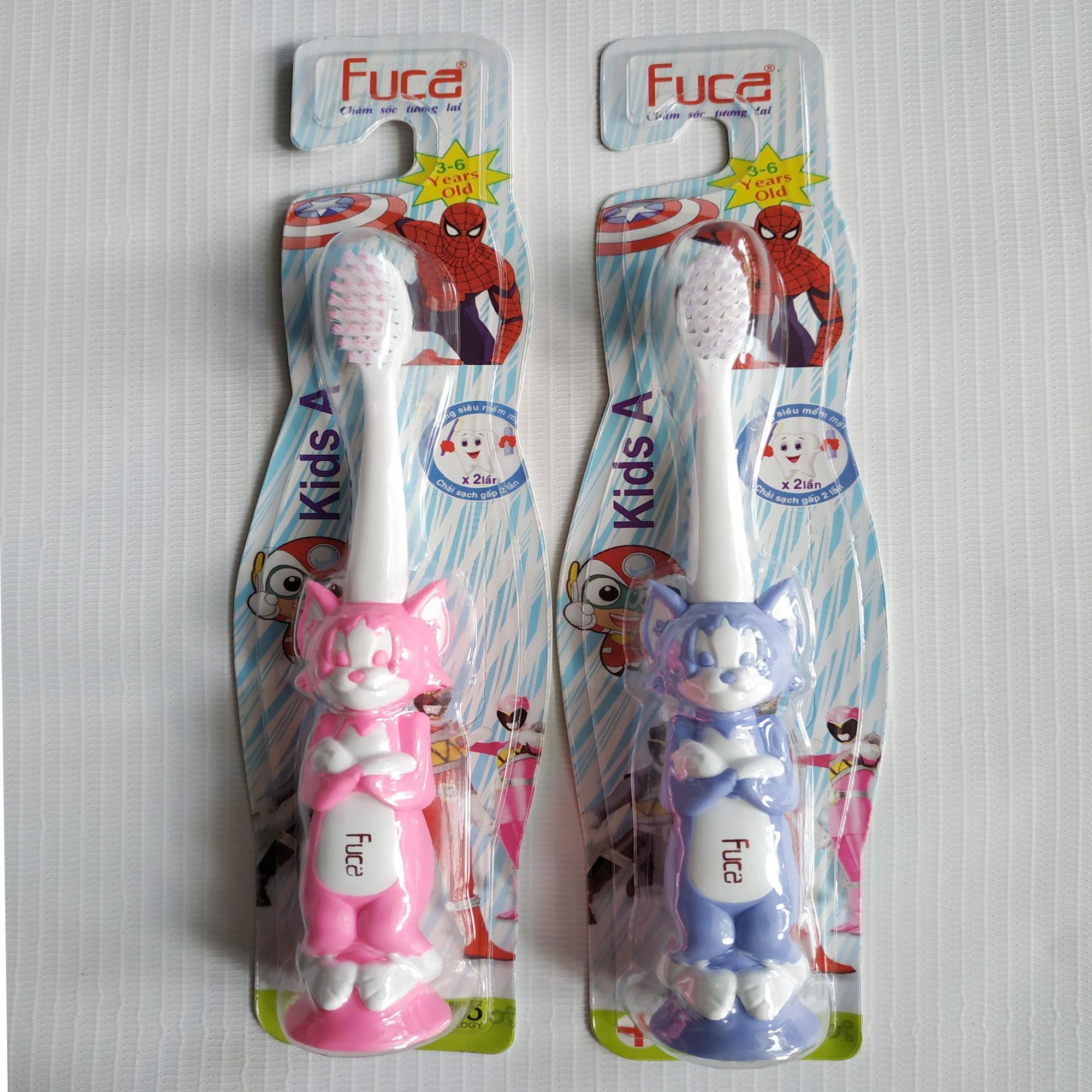 Combo 6 Bàn Chải Đánh Răng Trẻ Em ( 3 - 6  tuổi ) Fuca Kids A