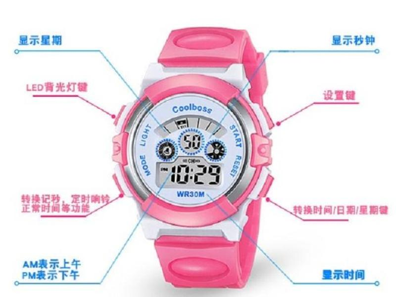 Đồng hồ bé gái cao cấp CoolBoss 0919 (Màu hồng) + tặng kèm 01 pin 3V dự phòng bán chạy