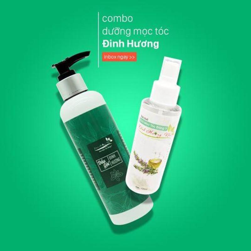 Combo Dầu gội thảo dược dưỡng mọc tóc Đinh Hương 250ML và Tinh dầu thảo dược Đinh Hương Nhu 120ML kích thích mọc tóc