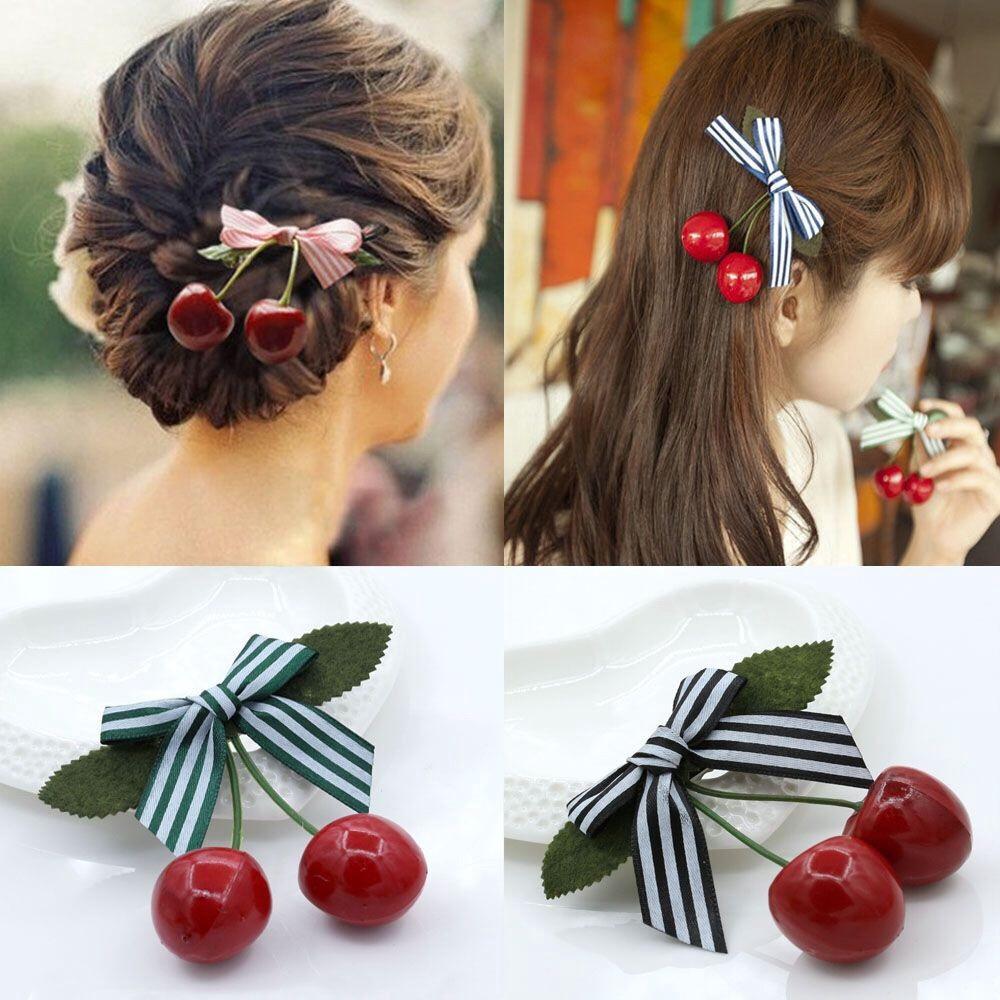Kẹp tóc Cherry đỏ đáng yêu