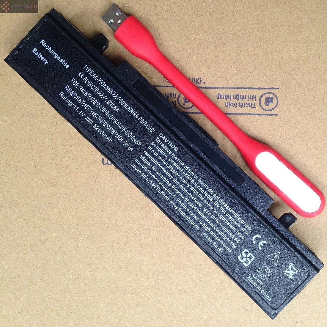 Pin cho Laptop Samsung NP R460 R462 R463 R463H R464 Hàng Nhập Khẩu Bảo Hành Toàn Quốc 12 Tháng