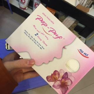 Bông tẩy trang Pop-Puf 2 Công Dụng ( Trang điểm + tẩy trang) 100 Miếng Hộp - Thanh Loan thumbnail