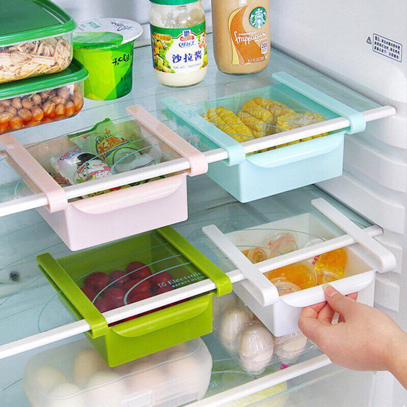 Bộ 3 Khay Kéo để Tủ Lạnh đựng đồ Thông Minh By Baby One More.