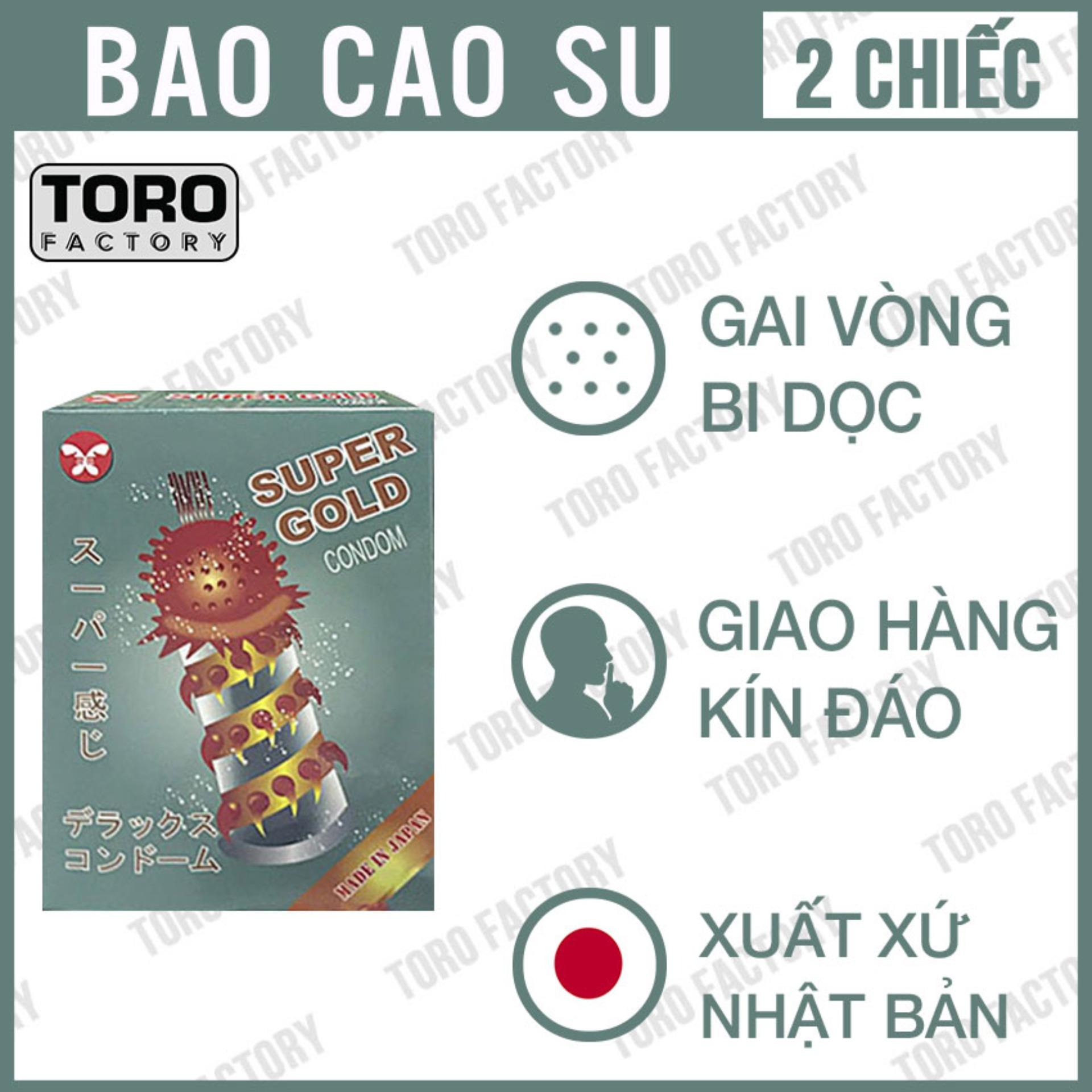 Bao cao su Super Gold Gân, Gai siêu lớn - Toro nhập khẩu