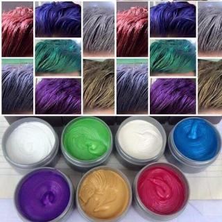 Sáp tạo màu tóc cao cấp đầy đủ 8 màu lựa chọn màu xám khói, màu xanh dương, xanh rêu, vàng, đỏ, tím, hạt dẻ. bạch kim thumbnail