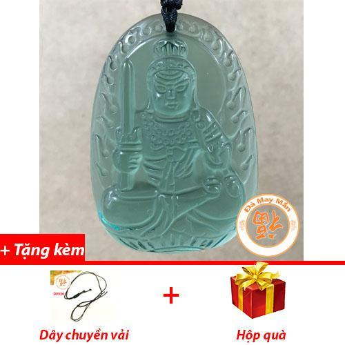 Mặt Dây Chuyền Phật Bản Mệnh Bất Động Minh Vương Lưu Ly Xanh