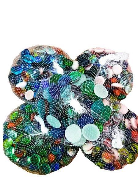 Sỏi màu thủy tinh trang trị cho bể cá cảnh 1 bịch 500g