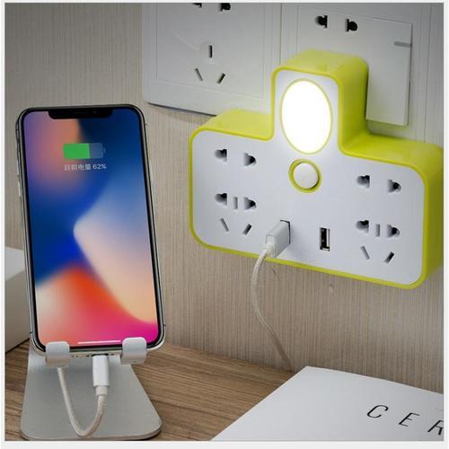 Hình ảnh ổ cắm điện đa năng có đèn ngủ và cổng usb