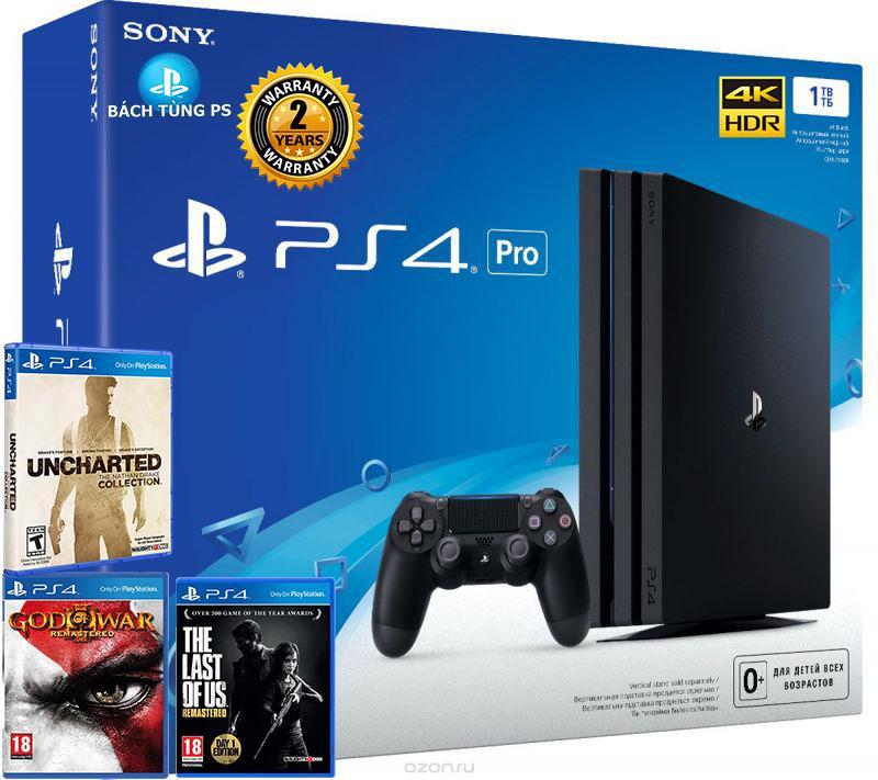 Bộ  Máy Chơi Game Sony PlayStation 4 PS4 Pro 1TB tặng kèm 3 game siêu chất