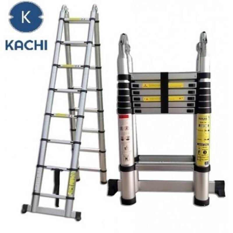 Thang nhôm rút chữ A Kachi 3m8