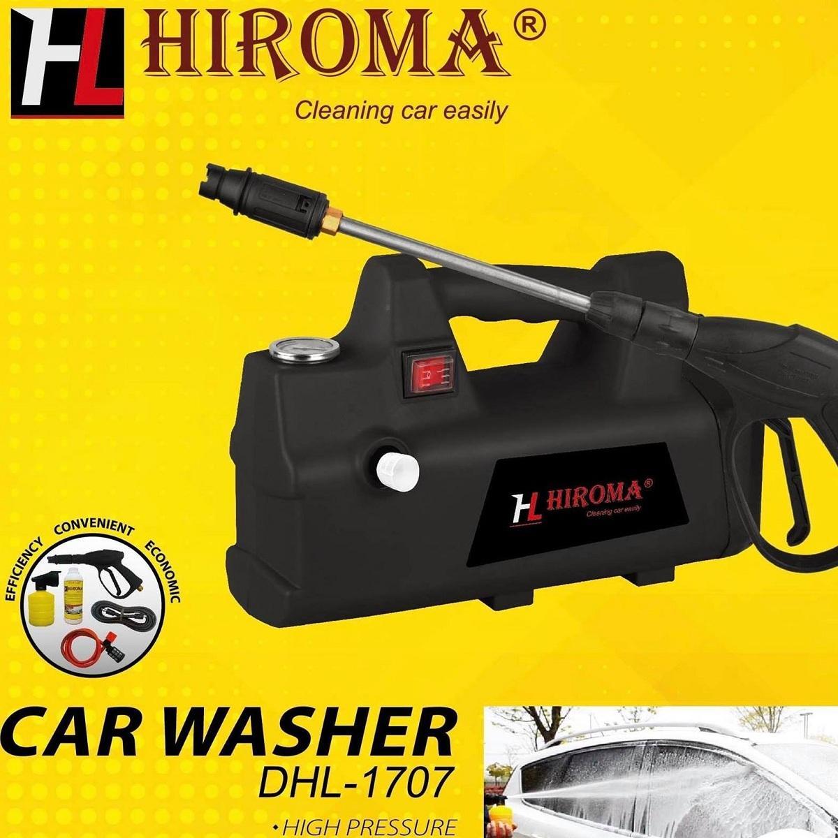 Máy rửa xe áp lực cao chính hãng HIROMA MODEL MỚI NHẤT 2018 động cơ cảm ứng từ êm ái, tự hút nước DÒNG MÁY RỬA XE CAO CẤP ĐƯỢC ƯA CHUỘNG NHẤT