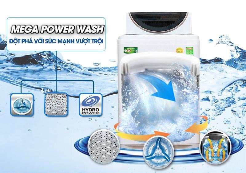 Máy giặt Toshiba AW-MF920LV WK sở hữu mâm giặt Mega Power