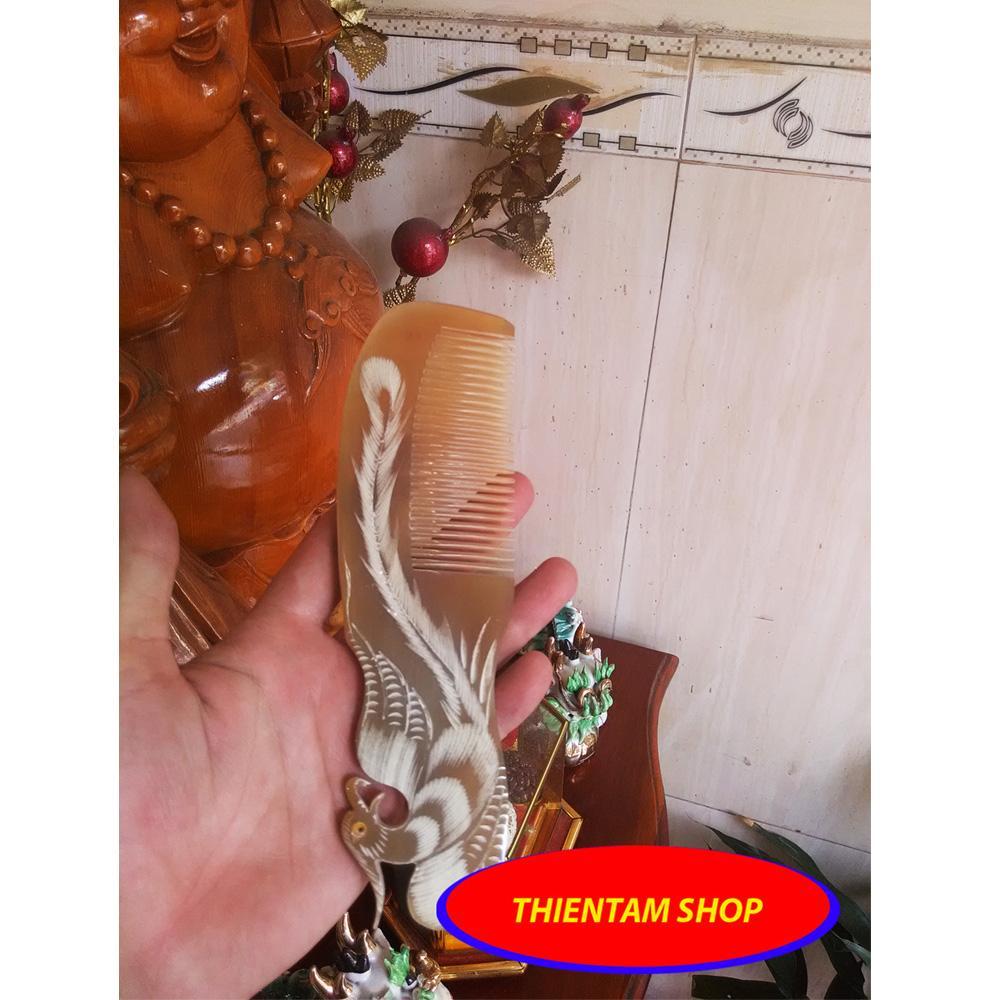Lược trải đầu sừng trâu trắng phượng hoàng xinh xắn (LST06) nhập khẩu