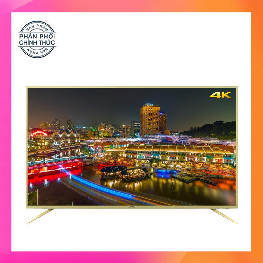 Hình ảnh Smart Tivi Led Asanzo 50 inch Ultra HD 4K - Model 50AU5900, 50AU6000 (Viền Vàng Nhạt) Tích hợp DVB-T2, Wifi