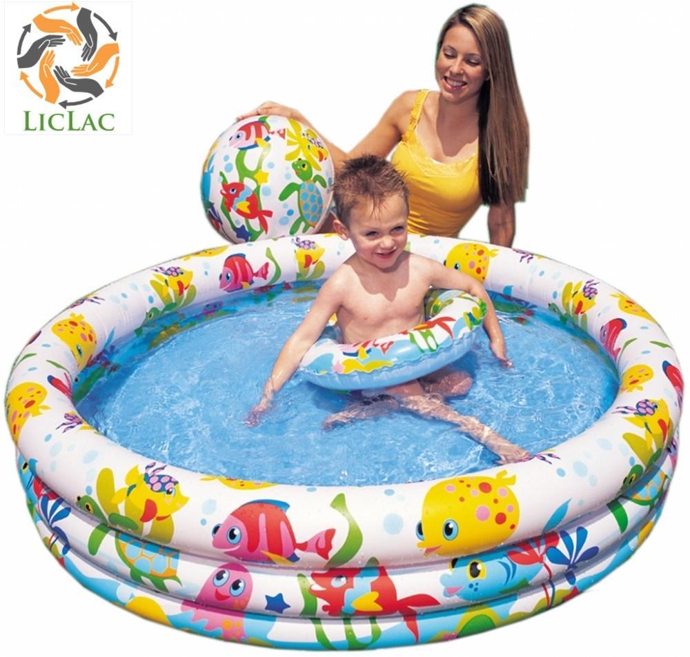 Coupon tại Lazada cho Bộ Phao Bơi INTEX 59469NP ( Hồ Bơi + Phao Bơi + Bóng ), Hồ Bơi Trẻ Em Cao Cấp, Bể Bơi 3 Tầng Cho Bé, Đồ Chơi Giải Trí - LICLAC