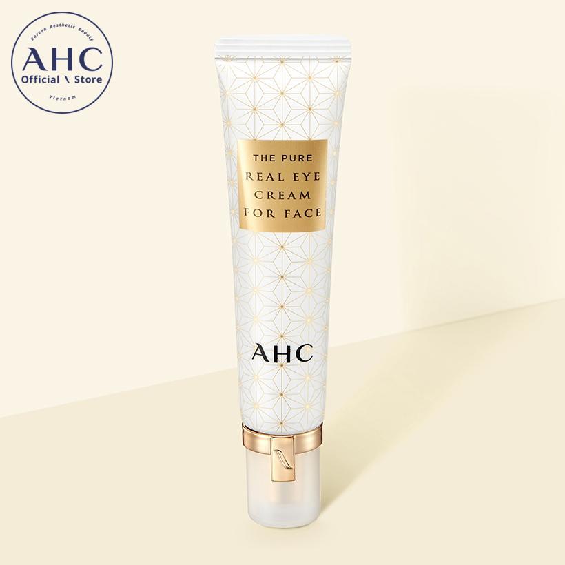 Kem dưỡng mắt có thể sử dụng cho da mặt AHC The Pure Real với thành phần Axit Hyaluronic làm trắng, chống vết nhăn 30ml