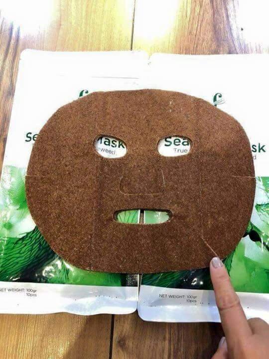 Mặt nạ tảo biển Hàn Quốc 10 miếng/gói - Seaweed Mask - Hàng chính hãng check code- mẫu mới date 1 năm