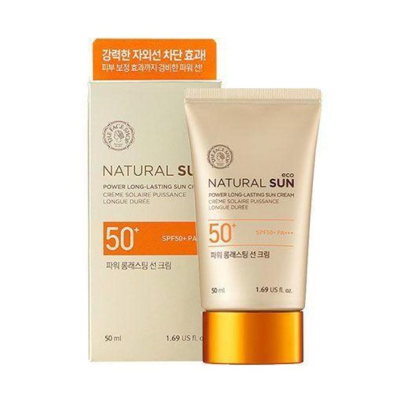 Kem chống nắng không trôi The Face Shop Power Long Lasting Sun Cream SPF50 PA+++ nhập khẩu