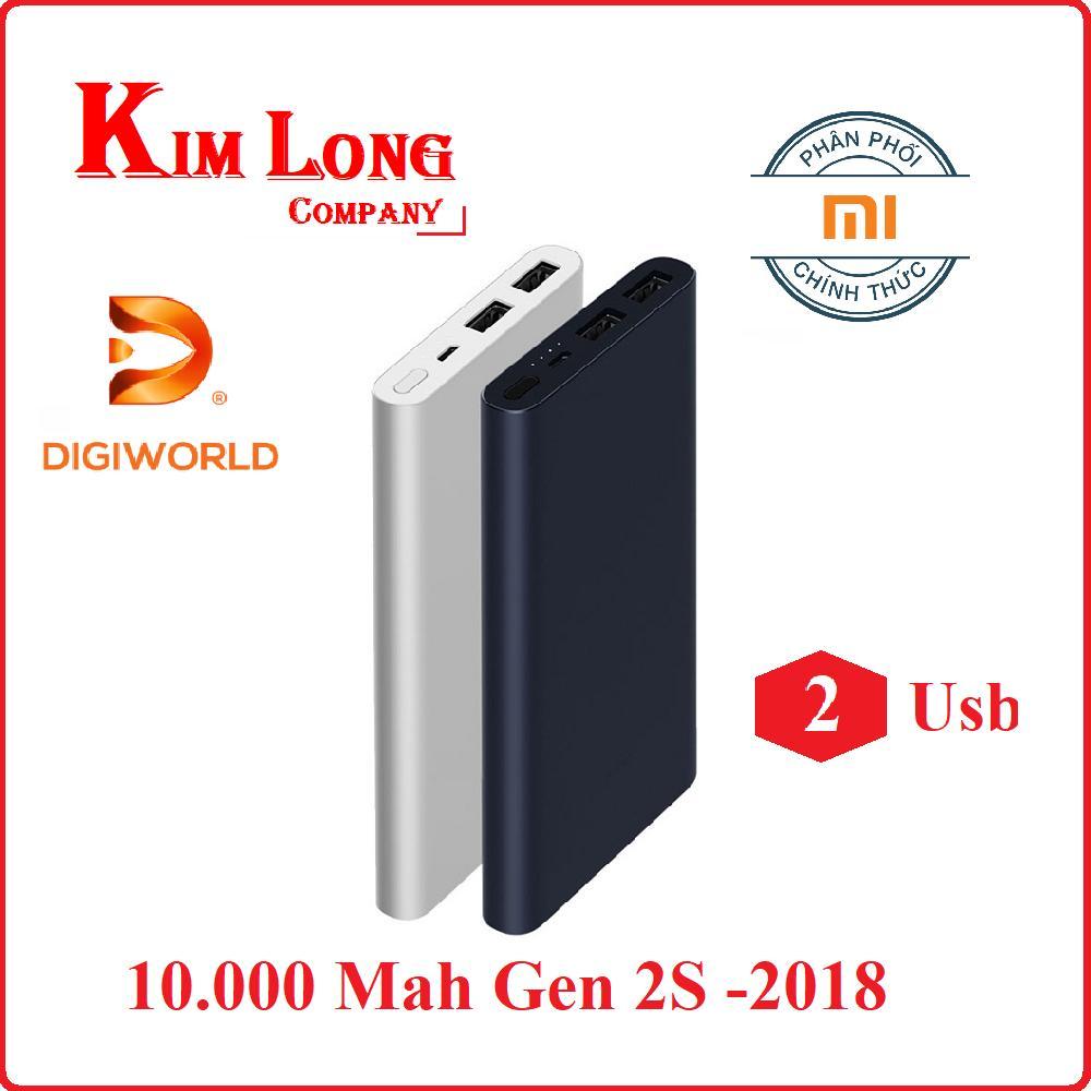 Pin sạc dự phòng Xiaomi 10000mAh Gen 2s Quick Charge 3.0 - Digiworld phân phối chính thức
