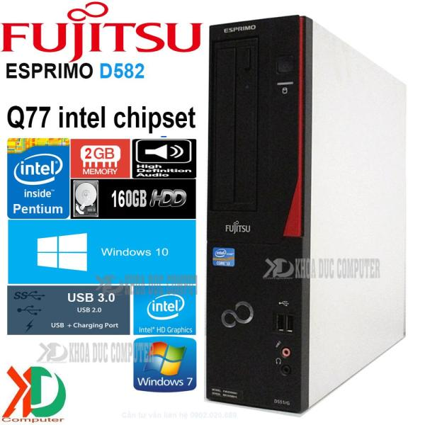 Máy tính đồng bộ nhật bản FUJITSU D582/G - Q77 Chipset CPU G2030/ 2GB ram / 160GB ổ cứng Siêu bền