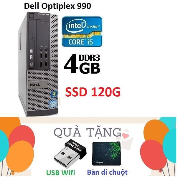 Đồng Bộ Dell Optiplex 990 (Core i5 2400 / 4G / SSD 120G ), Tặng USB Wifi , Bàn di chuột , Bảo hành 02 năm - Hàng Nhập Khẩu Nhật Bản