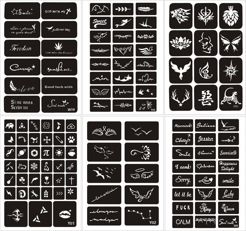 Combo 25 miếng khung vẽ henna